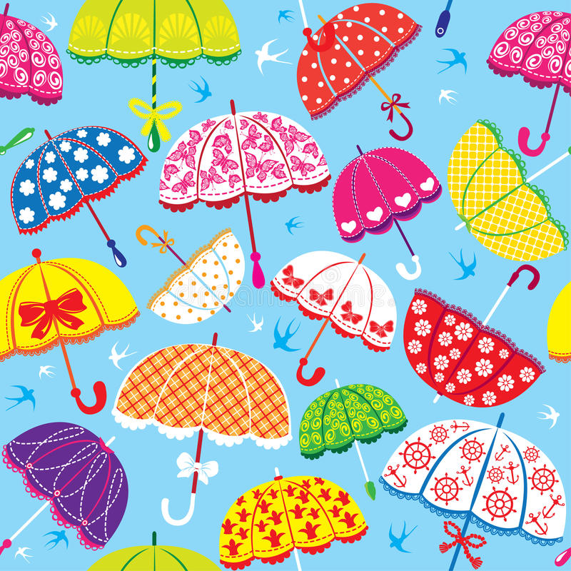 Teste padrão sem emenda com guarda-chuvas coloridos