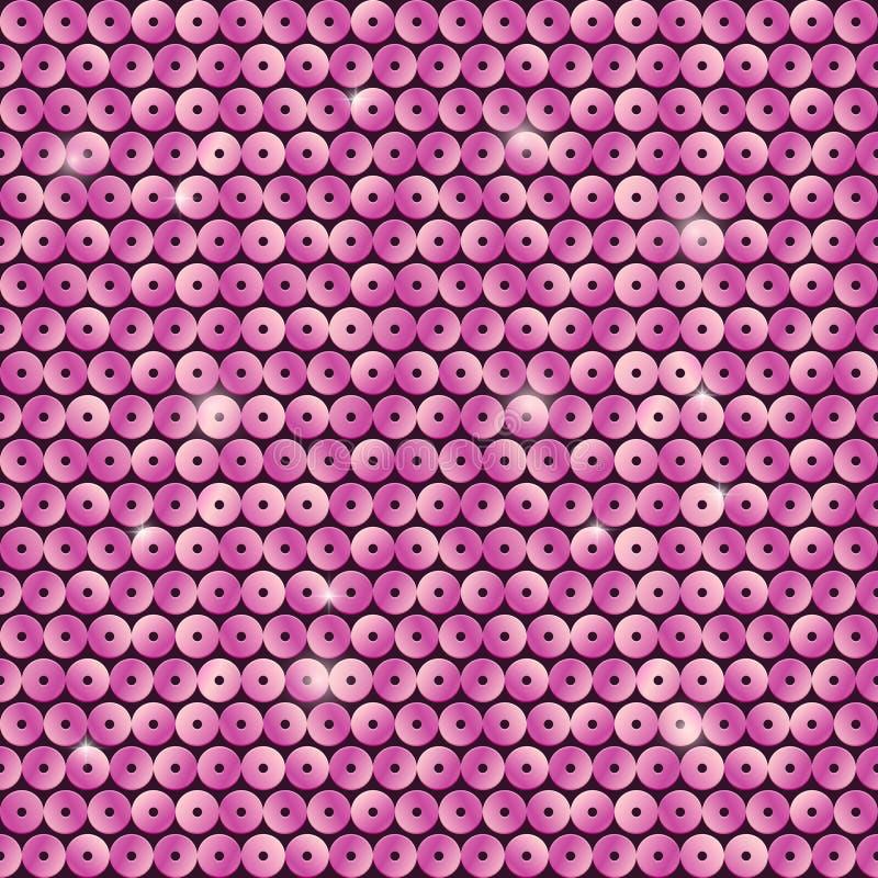 Teste padrão sem emenda com lantejoulas cor-de-rosa ilustração royalty free