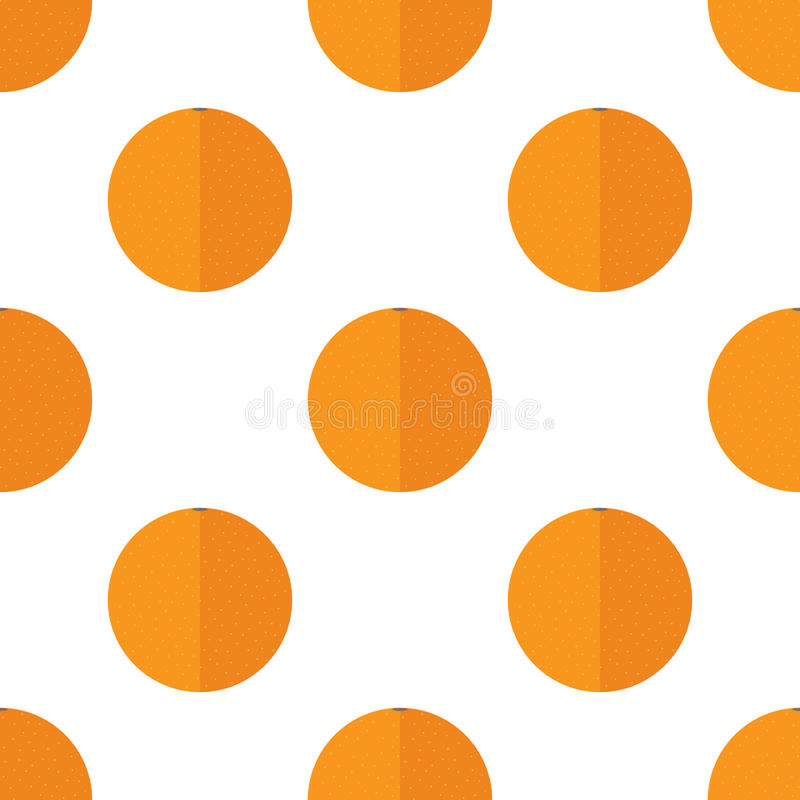 Teste padrão sem emenda com laranjas imagem de stock royalty free