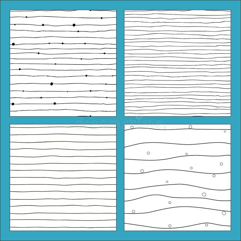 Teste padrão sem emenda com linhas tiradas mão ilustração stock