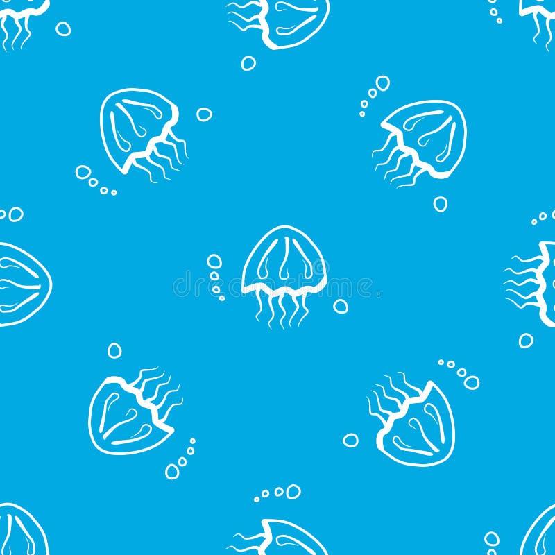 Teste padrão sem emenda com medusa ilustração royalty free