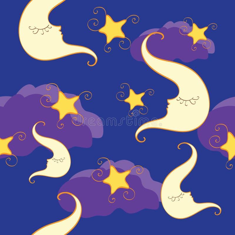 Download Teste Padrão Sem Emenda Com Meia Lua E Estrela Ilustração do Vetor - Ilustração de noite, ilustração: 16865181
