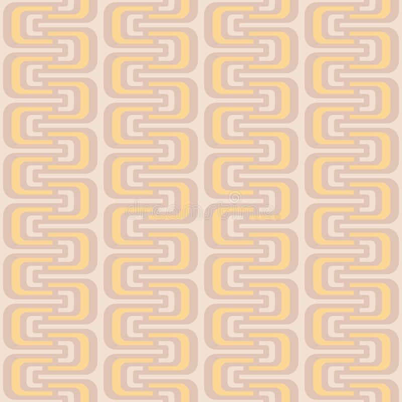 Teste padrão sem emenda com ondas geométricas ilustração do vetor