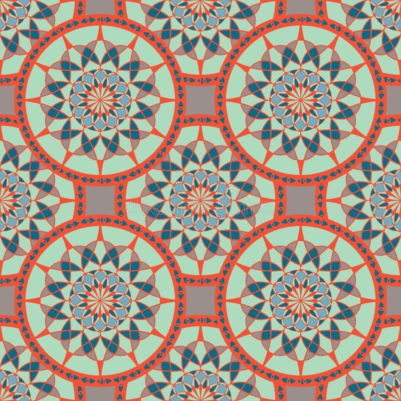 Teste padrão sem emenda com ornamento étnico ilustração do vetor