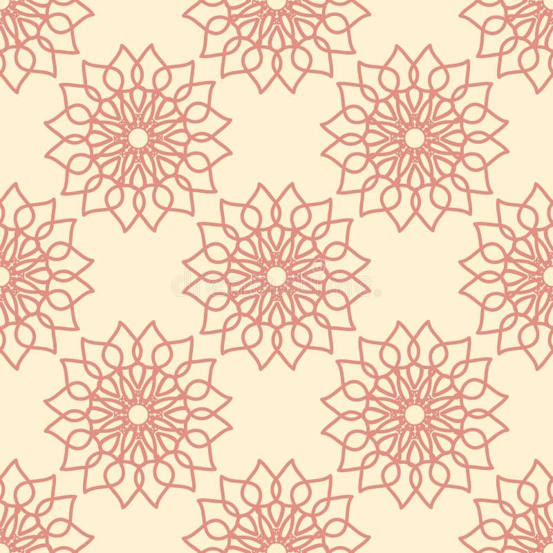 Teste padrão sem emenda com ornamento da flor fotos de stock royalty free