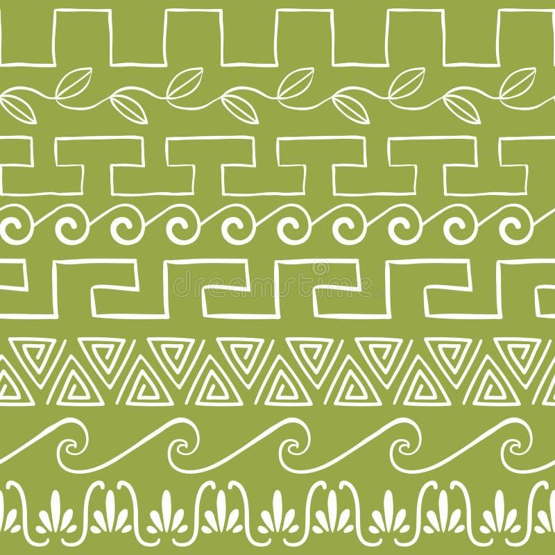 Teste padrão sem emenda com ornamento do grego clássico ilustração royalty free