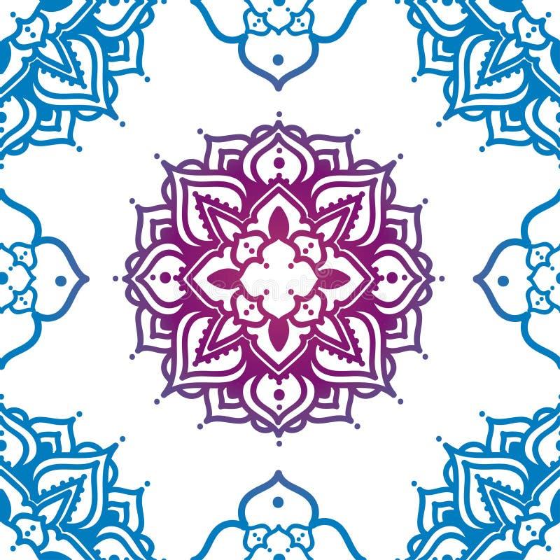 Teste padrão sem emenda com ornamento do madala ilustração royalty free