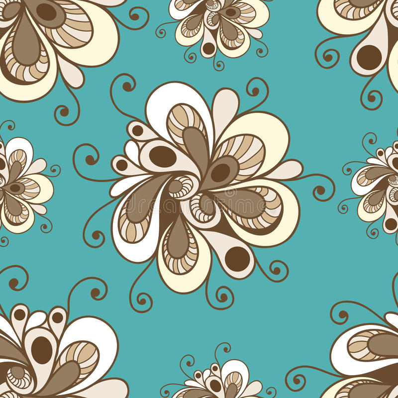 Teste padrão sem emenda com ornamento floral 1 ilustração royalty free
