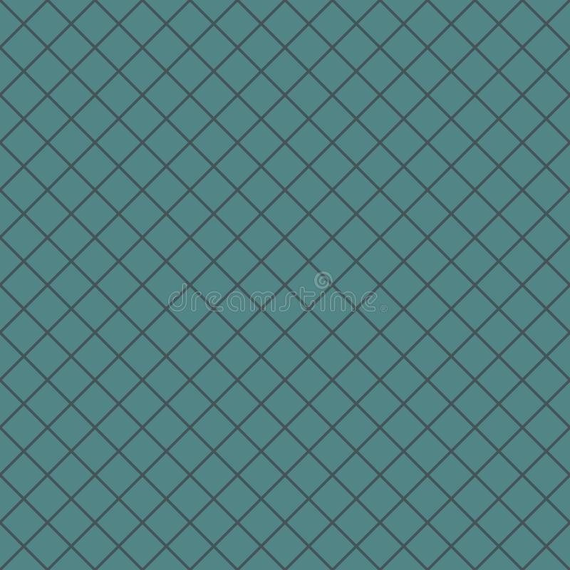Teste padrão sem emenda com ornamento geométrico Fundo diagonal da grade das listras O cruzamento alinha o papel de parede Linha  ilustração stock