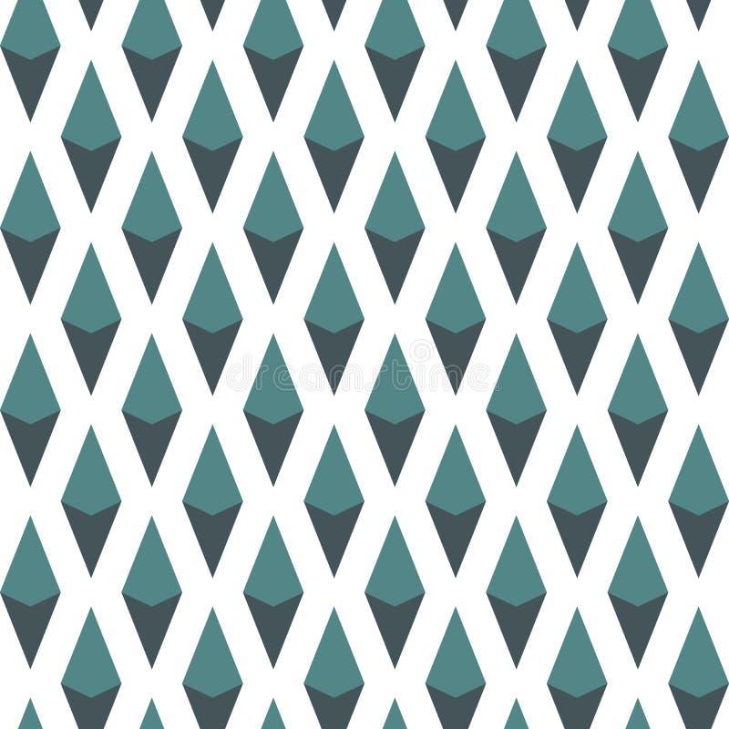 Teste padrão sem emenda com ornamento geométrico Papel de parede isométrico do diamante Motivo dos rombos e das pastilhas Figuras ilustração stock