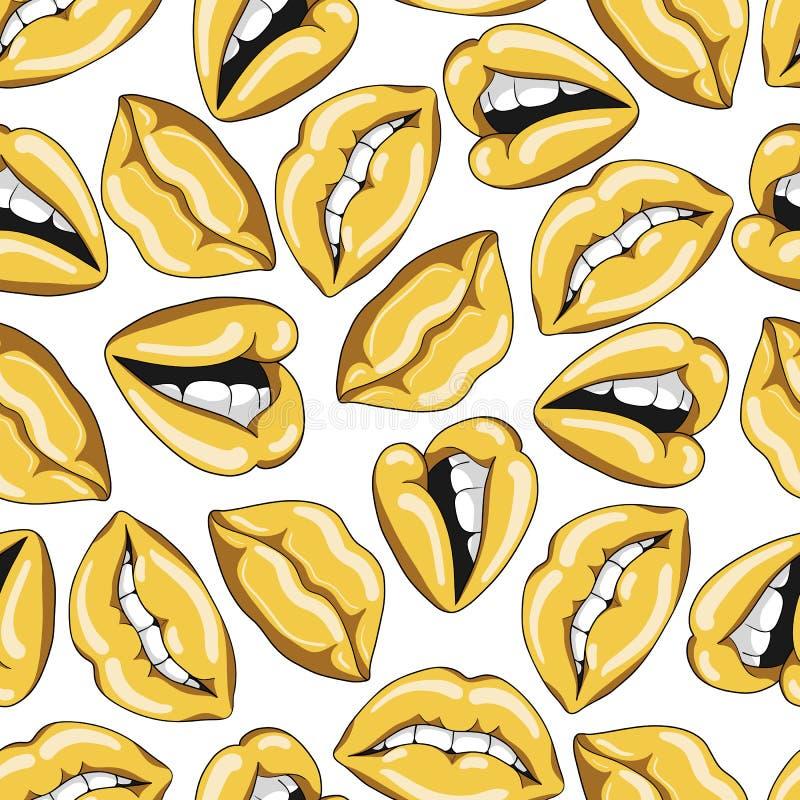 Teste padrão sem emenda com os bordos dourados 'sexy' ilustração royalty free