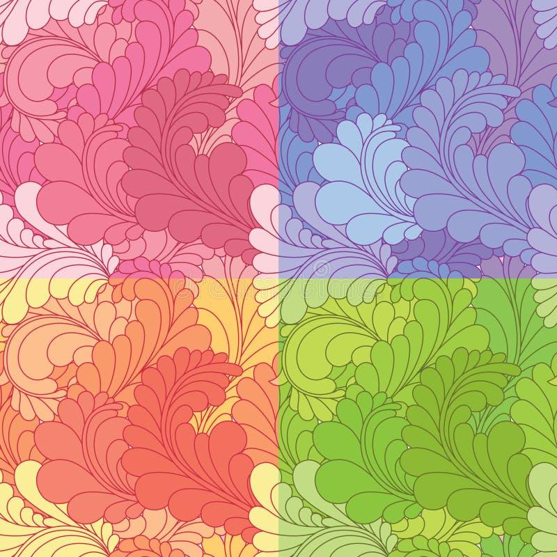 Teste padrão sem emenda com paisley ilustração royalty free