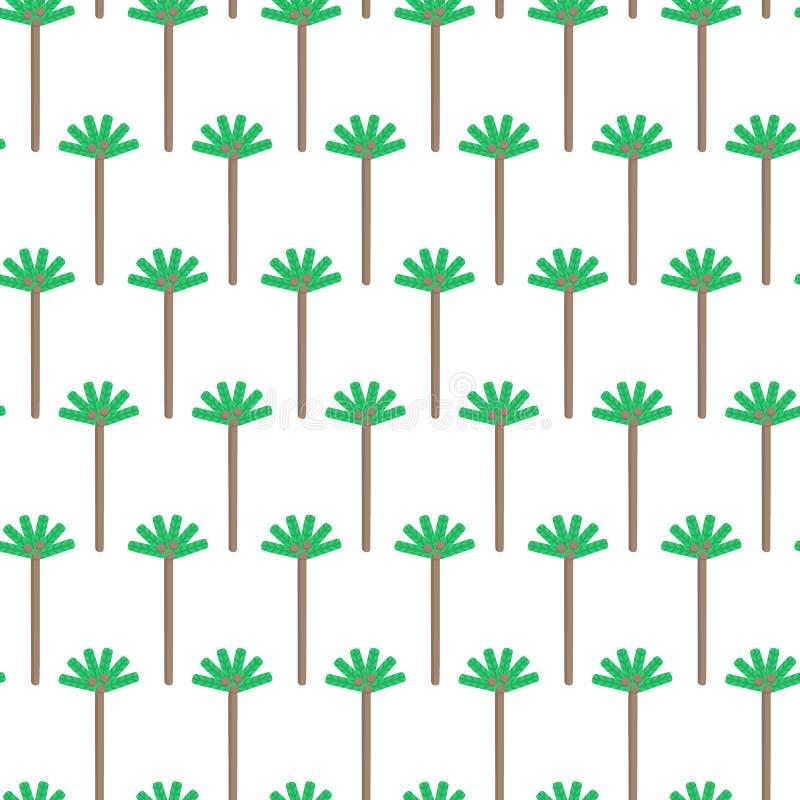 Teste padrão sem emenda com palma Fundo para cópias do t-shirt, cartões de verão, Web Elementos tropicais da natureza ilustração royalty free