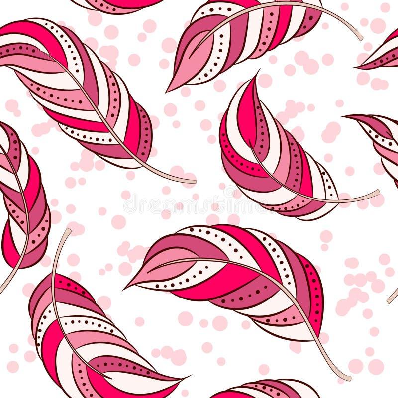 Teste padrão sem emenda com rosa das penas ilustração royalty free