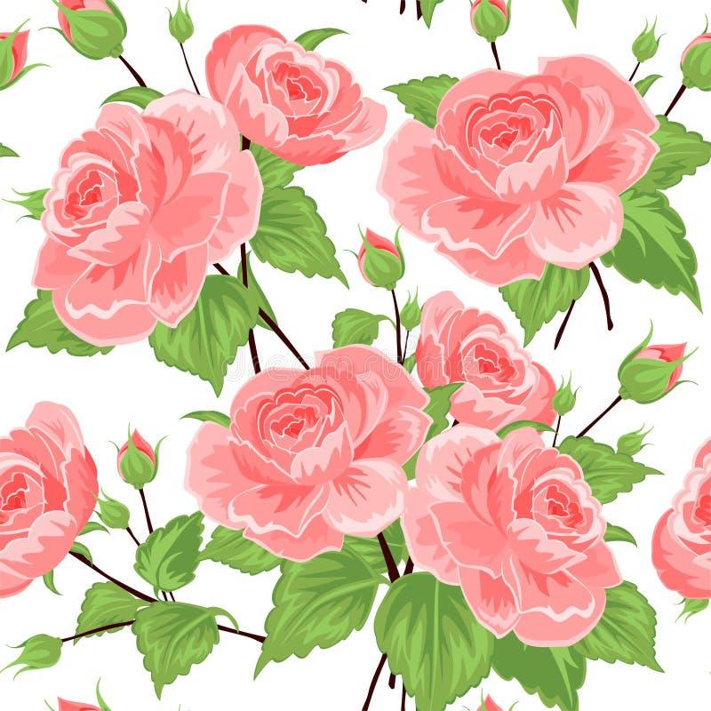 Teste padrão sem emenda com rosas imagem de stock royalty free
