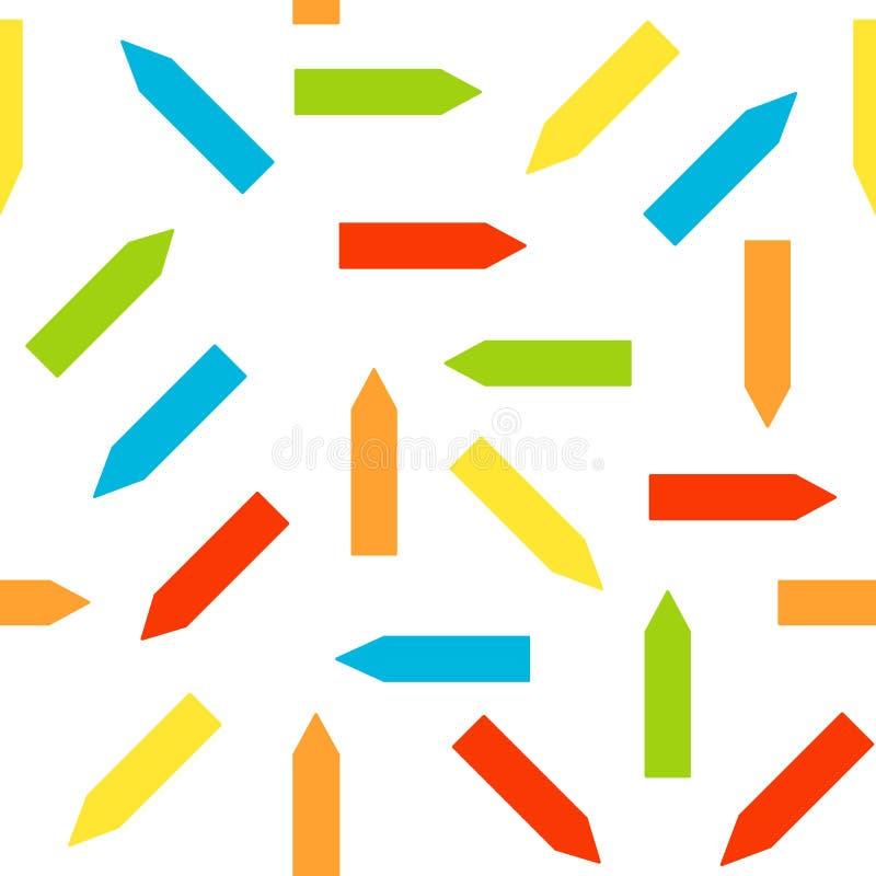 Teste padrão sem emenda com setas da cor abstraia o fundo Ornamento para o papel de envolvimento, textura da cópia Ilustra??o do  ilustração royalty free
