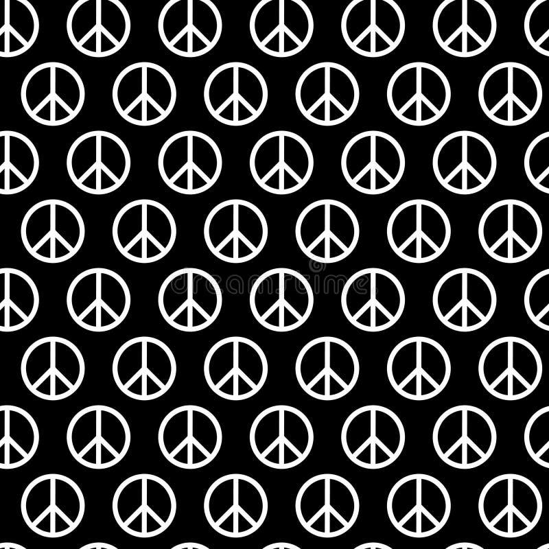 Teste padrão sem emenda com sinais de paz O fundo para a matéria têxtil da criança e do adulto, pijama, cópia de papel, carda o o ilustração royalty free