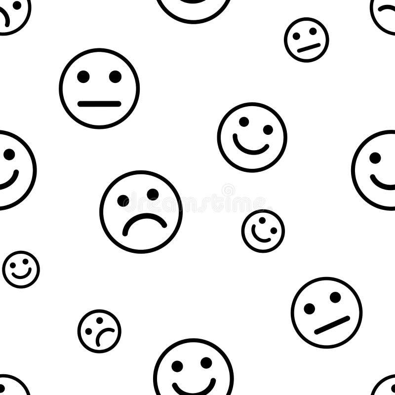 Teste padrão sem emenda com sorrisos Ilustração do vetor ilustração stock