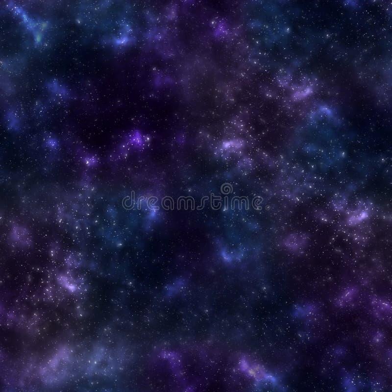 Teste padrão sem emenda com textura colorido brilhante do cosmos Pequeno protagoniza no espaço ilustração do vetor