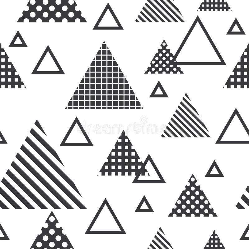 Teste padrão sem emenda com triângulos cinzentos ilustração stock