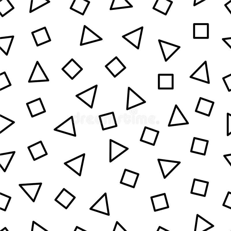 Teste padrão sem emenda com triângulos e retângulos ilustração stock
