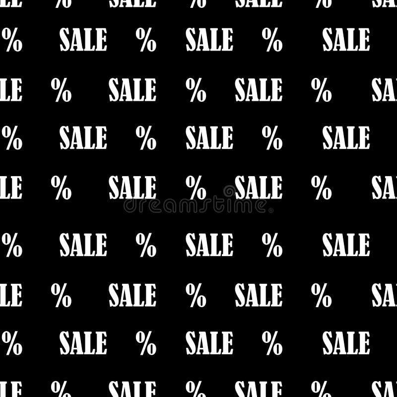 Teste padrão sem emenda com venda e por cento do texto Fundo da venda de Black Friday ilustração do vetor