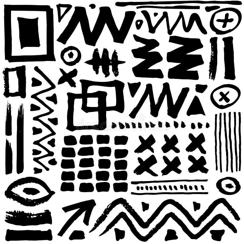 Teste padrão sem emenda creativo ilustração royalty free
