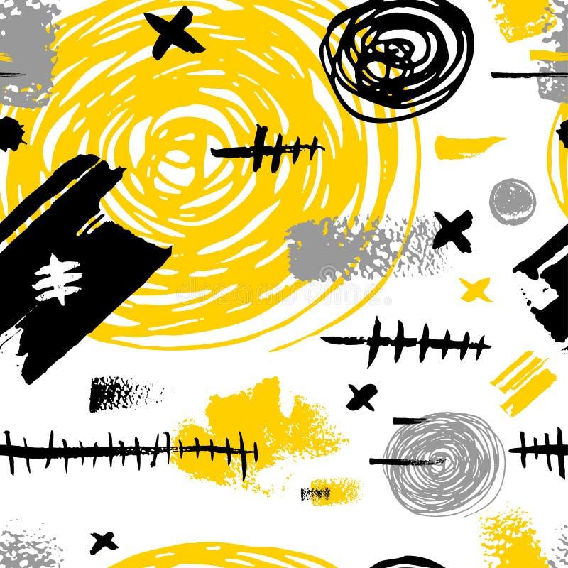 Teste padrão sem emenda creativo ilustração do vetor
