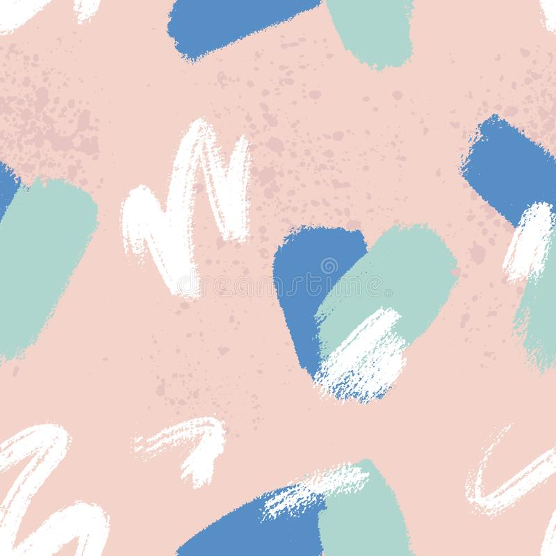 Teste padrão sem emenda creativo Fundo universal artístico Texturas tiradas mão ilustração stock