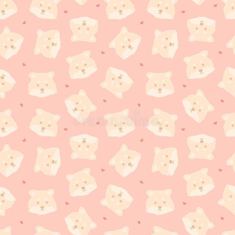 Teste padrão sem emenda criançola de Braght com os cães criativos engraçados no fundo cor-de-rosa Fundo na moda do vetor dos anim ilustração do vetor