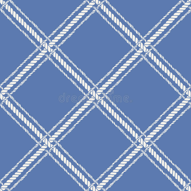 Teste padrão sem emenda cruzado náutico da corda ilustração stock