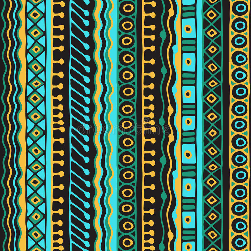 Teste padrão sem emenda da afiliação étnica Estilo de Boho Papel de parede étnico Cópia tribal da arte O sumário velho limita a t foto de stock