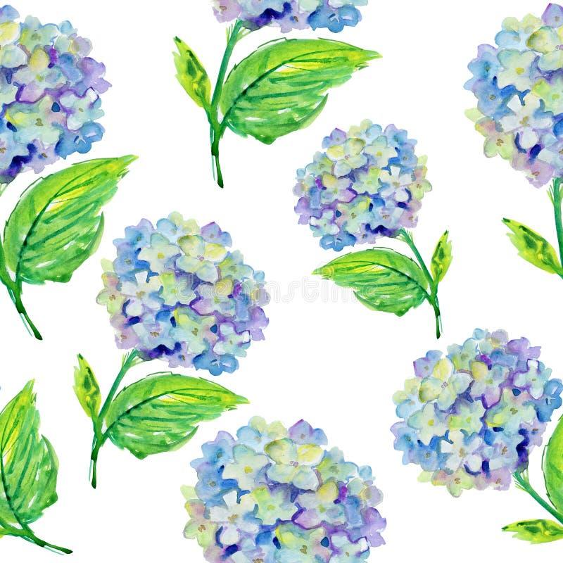 Teste padrão de flores azul ilustração royalty free
