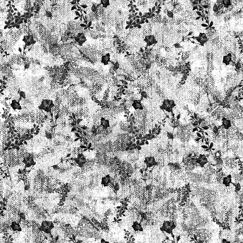 Teste padrão sem emenda da aquarela com as folhas de outono cor-de-rosa e alaranjadas Fundo da natureza ilustração stock