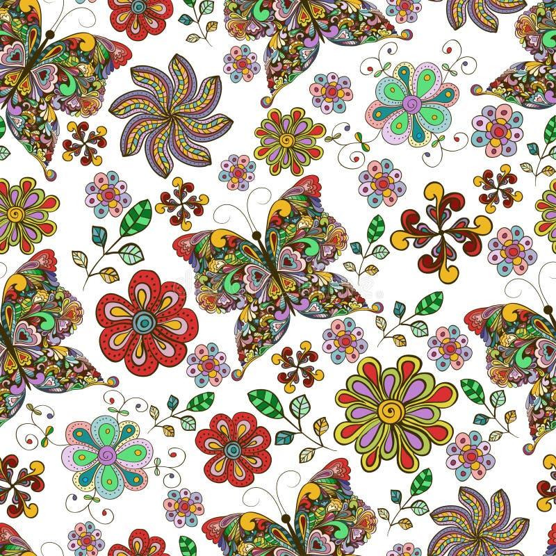 Teste padrão sem emenda da borboleta ilustração royalty free