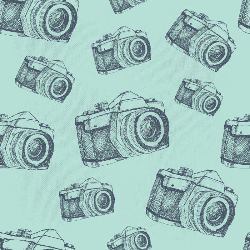 Teste padrão sem emenda da câmera foto de stock royalty free