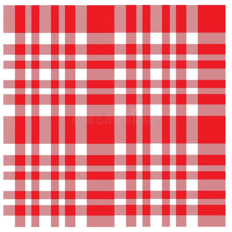 Teste padrão sem emenda da cópia da tartã moderna clássica colorida da manta ilustração stock