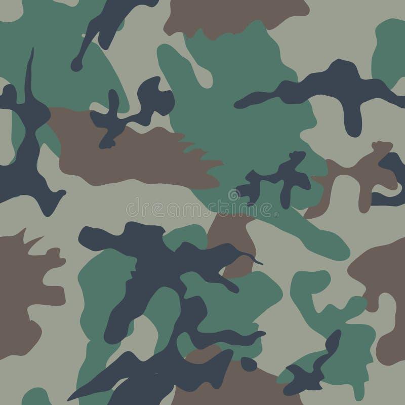 Teste padrão sem emenda da camuflagem ilustração stock