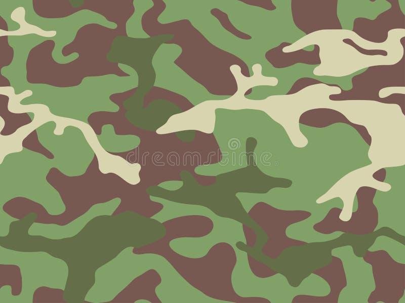 Teste padrão sem emenda da camuflagem do vetor Estilo do projeto dos cáquis para o t-shirt Textura militar, roupa do camo ao caça ilustração do vetor