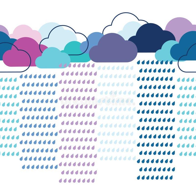 Teste padrão sem emenda da chuva ilustração stock