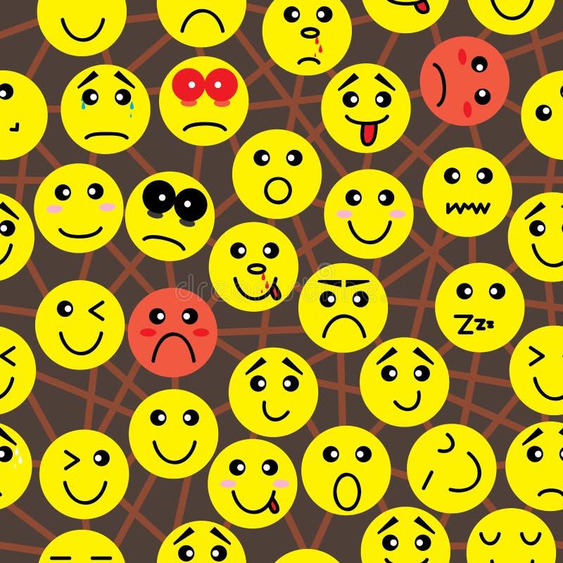 Teste padrão sem emenda da conexão da emoção ilustração royalty free