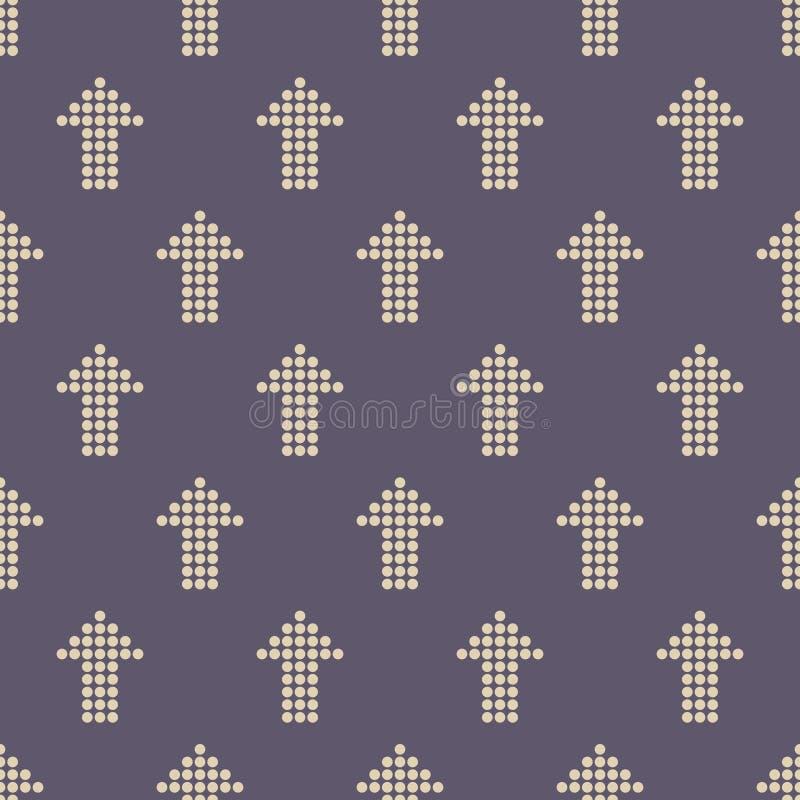 Teste padrão sem emenda da cor com motivo das setas Setas feitas dos pontos ilustração do vetor