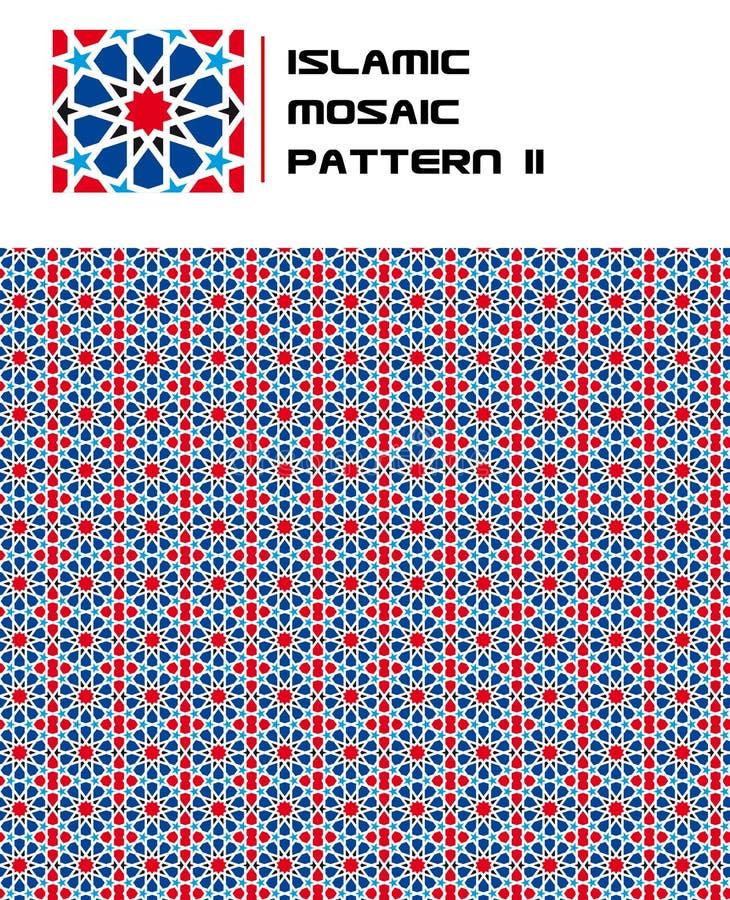 Teste padrão sem emenda da cor islâmica do mosaico ilustração royalty free