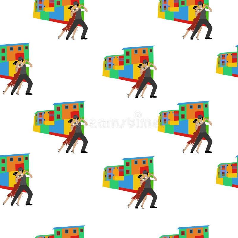 Teste padrão sem emenda da dança do tango ilustração do vetor