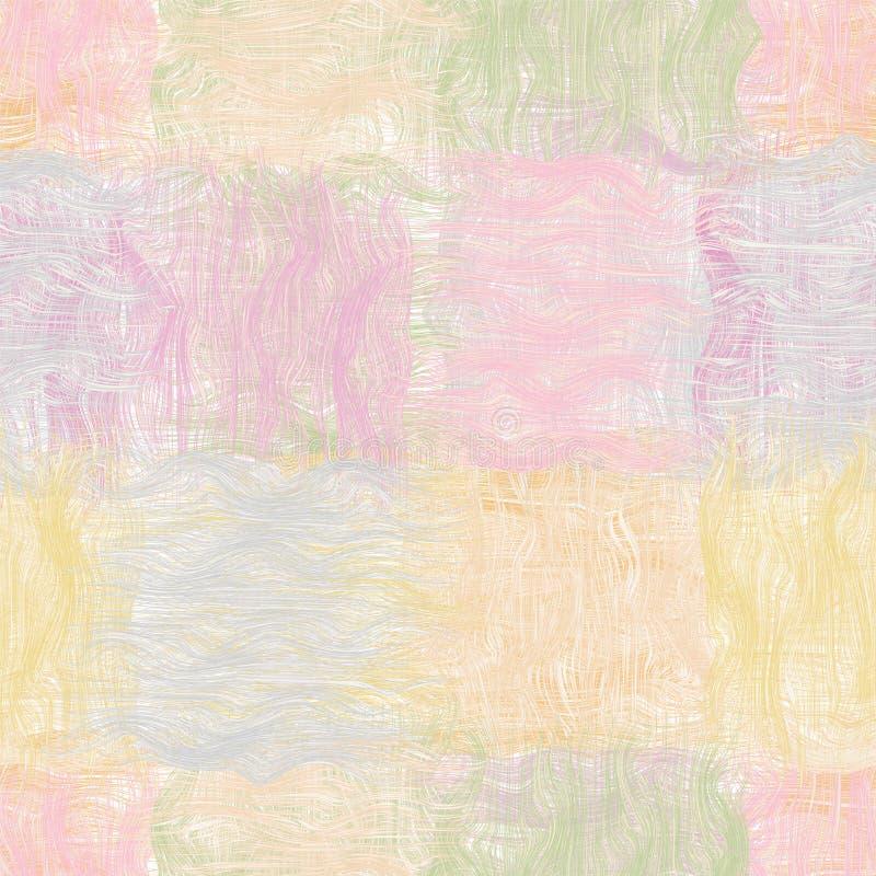 Teste padrão sem emenda da edredão ondulada listrada do Grunge ilustração stock