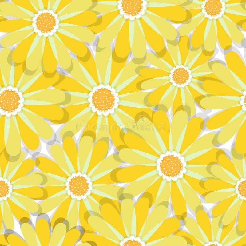 Teste padrão sem emenda da elegância abstrata com fundo floral ilustração stock