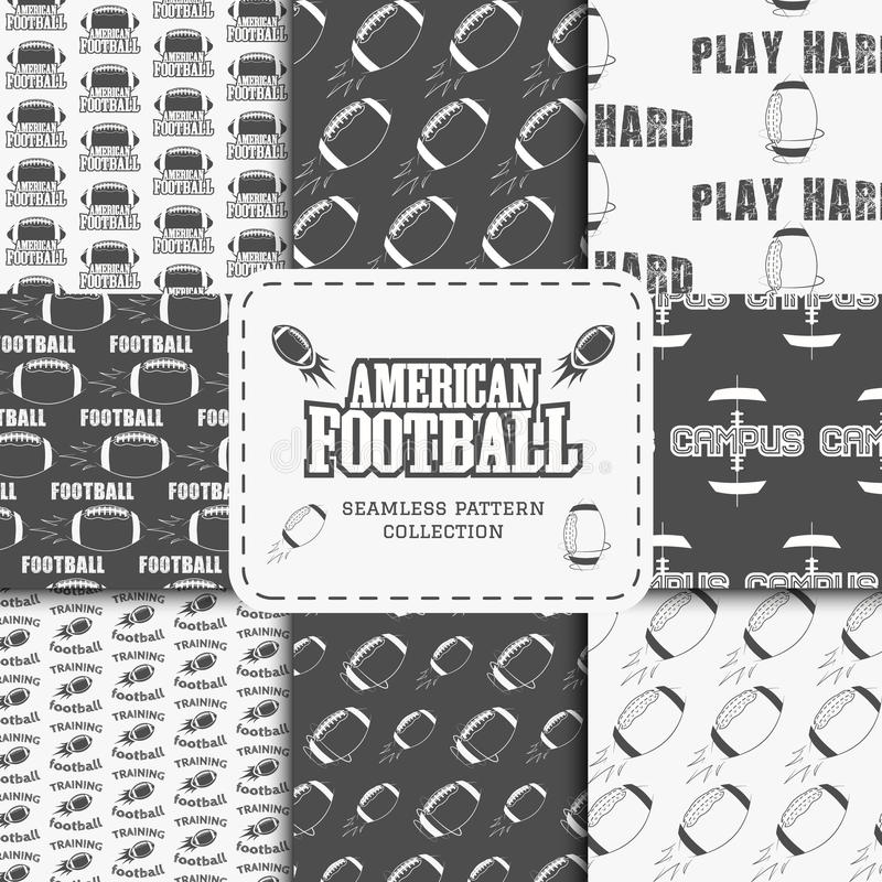 Teste padrão sem emenda da equipa de futebol americana da faculdade ilustração royalty free