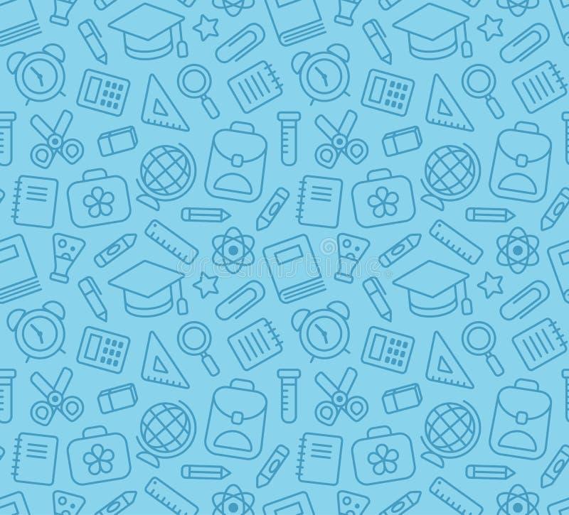 Teste padrão sem emenda da escola ilustração royalty free