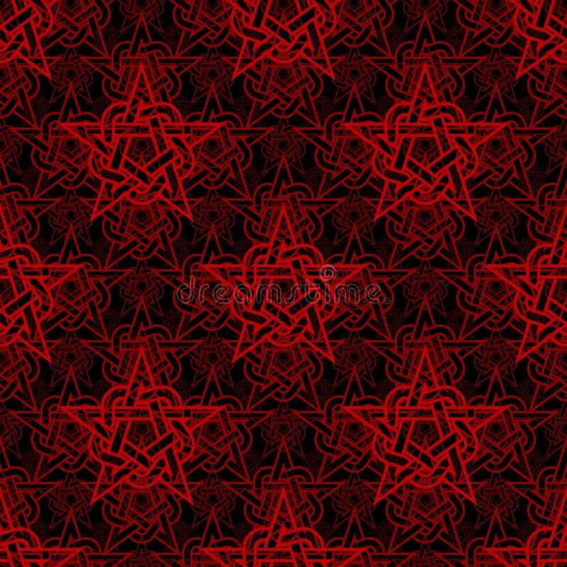 Teste padrão sem emenda da estrela abstrata Vetor ilustração do vetor