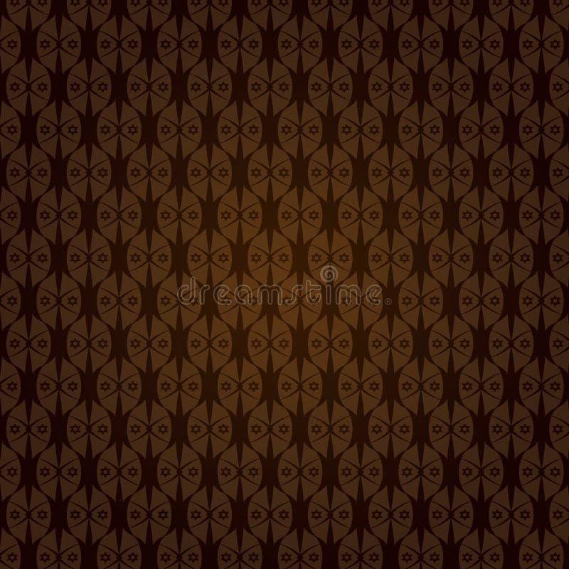 Teste padrão sem emenda da estrela decorativa do vetor ilustração royalty free